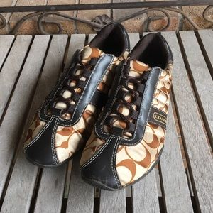 Coach Kirby Brown & Tan Casual Shoes/Sneakers